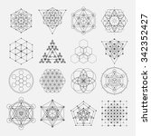 sacred geometry vector design... | Shutterstock .eps vector #342352427