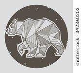 abstract bear geometric  | Shutterstock .eps vector #342360203