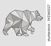 abstract bear geometric  | Shutterstock .eps vector #342360227