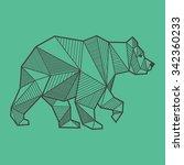abstract bear geometric  | Shutterstock .eps vector #342360233