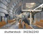 airline passengers in an... | Shutterstock . vector #342362243