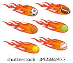 sport fireball | Shutterstock .eps vector #342362477