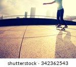 skateboarder  skateboarding on... | Shutterstock . vector #342362543