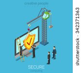 secure computing technology... | Shutterstock .eps vector #342371363