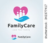 family care logo love family... | Shutterstock .eps vector #342377417