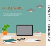 flat design illustration... | Shutterstock .eps vector #342378257