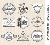 set of vintage badges  banners  ... | Shutterstock .eps vector #342382073