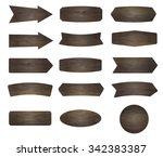 vector wood signs | Shutterstock .eps vector #342383387