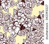 abstract elegance seamless... | Shutterstock .eps vector #342393227