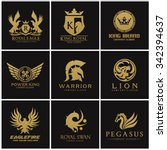 crest logo collection  set of... | Shutterstock .eps vector #342394637