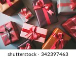 new year's and christmas. gift... | Shutterstock . vector #342397463