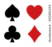 Playing Card Spade  Heart  Clu...