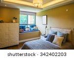interior of bedroom  in modern... | Shutterstock . vector #342402203
