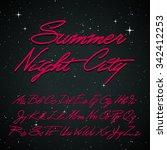 hand written cursive retro font.... | Shutterstock .eps vector #342412253