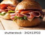Ham Sandwich With Roll Bread