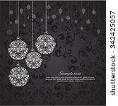 vector elegant christmas...   Shutterstock .eps vector #342425057