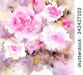 Floral Bouquet. Watercolor...