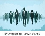 group of business people... | Shutterstock .eps vector #342434753