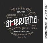 americana moonshine distillery... | Shutterstock .eps vector #342445487