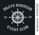 rudder retro vintage stamp ... | Shutterstock .eps vector #342450563