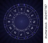 set of symbol zodiac sign.... | Shutterstock . vector #342457787