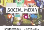 social media networking... | Shutterstock . vector #342462317