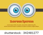 cartoon two eyes glasses or... | Shutterstock .eps vector #342481277