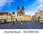 old town square and church of... | Shutterstock . vector #342484703