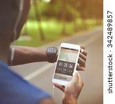 activity cardio control digital ... | Shutterstock . vector #342489857