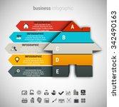 vector illustration of business ... | Shutterstock .eps vector #342490163