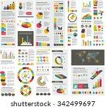 mega set of infographics... | Shutterstock .eps vector #342499697