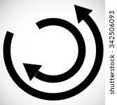 vector circle arrows... | Shutterstock .eps vector #342506093