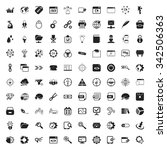 seo 100 icons set for web flat | Shutterstock . vector #342506363