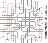 abstract city transport scheme | Shutterstock .eps vector #342508667