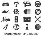 car service maintenance icon set | Shutterstock .eps vector #342509807