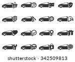 car service symbol web icons | Shutterstock .eps vector #342509813