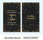 wedding invitation  thank you...   Shutterstock .eps vector #342510407