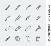 drawing and writing tools icon... | Shutterstock .eps vector #342512123
