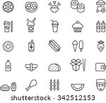 fast food icons | Shutterstock .eps vector #342512153