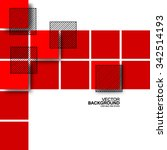 overlapping red squares... | Shutterstock .eps vector #342514193
