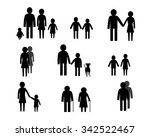 family groups in silhouette  | Shutterstock .eps vector #342522467