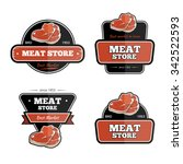vintage meat store and butchery ... | Shutterstock .eps vector #342522593