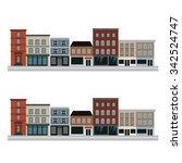 city home. street. shop.   Shutterstock .eps vector #342524747