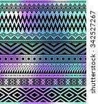 multicolor tribal navajo... | Shutterstock .eps vector #342527267
