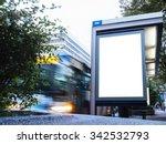 mock up billboard light box at... | Shutterstock . vector #342532793