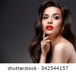Beauty Model Woman With Long...