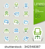 lineo papercut   office and... | Shutterstock .eps vector #342548387