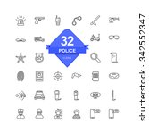 police icons   line icons   | Shutterstock .eps vector #342552347