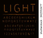 alphabet of lights on dark... | Shutterstock .eps vector #342552677