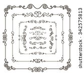 vector hand drawn doodle border ... | Shutterstock .eps vector #342575813